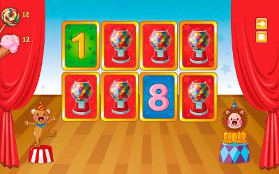 """Игра на развитие памяти и внимательности в блоке """"Повторяем цифры"""". (Учим цифры 2+ Free. Детское игровое приложение для Android.)"""