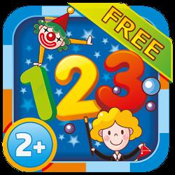 Учим цифры 2+ Free. Детское игровое приложение для Android.