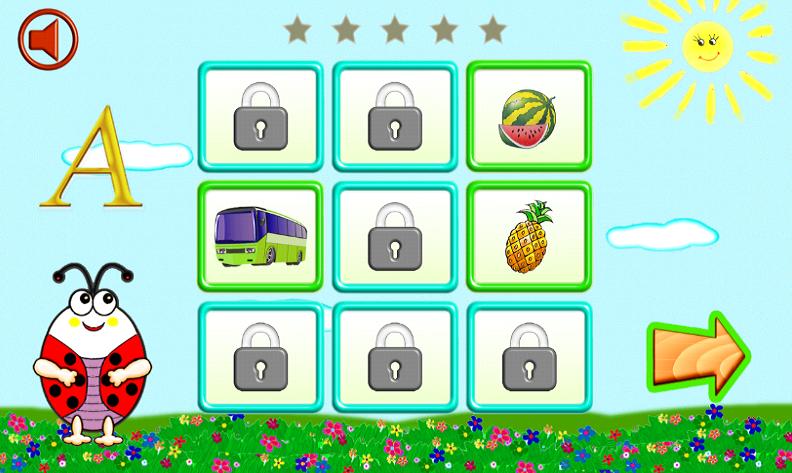 Мир букв. Азбука для детей 2-5 лет. Игровое приложение Android. Скачать бесплатно.